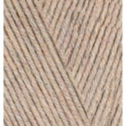 Пряжа Alize Cotton gold (55% хлопок, 45% акрил) 5х100г/330м цв.152 бежевый меланж