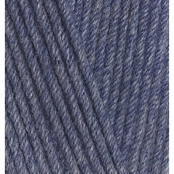 Пряжа Alize Cotton gold (55% хлопок, 45% акрил) 5х100г/330м цв.203 джинс меланж