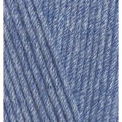 Пряжа Alize Cotton gold (55% хлопок, 45% акрил) 5х100г/330м цв.374 голубой меланж