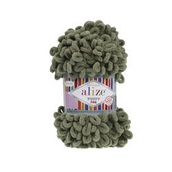 Пряжа Alize Puffy Fine (100% микрополиэстер) 5х100г/14м цв.003 хаки