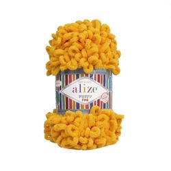 Пряжа Alize Puffy Fine (100% микрополиэстер) 5х100г/14м цв.082 желтый
