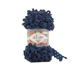 Пряжа Alize Puffy Fine (100% микрополиэстер) 5х100г/14м цв.093 петроль