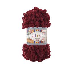 Пряжа Alize Puffy Fine (100% микрополиэстер) 5х100г/14м цв.107 вишня