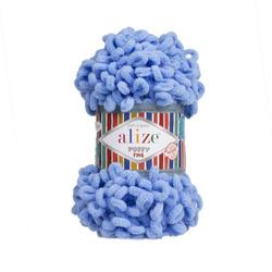 Пряжа Alize Puffy Fine (100% микрополиэстер) 5х100г/14м цв.112 голубой
