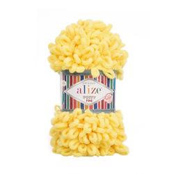 Пряжа Alize Puffy Fine (100% микрополиэстер) 5х100г/14м цв.113 желтый