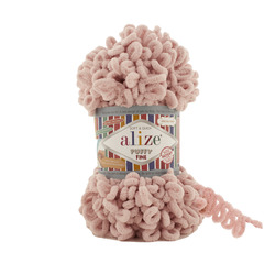 Пряжа Alize Puffy Fine (100% микрополиэстер) 5х100г/14м цв.161 пудра