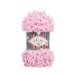 Пряжа Alize Puffy Fine (100% микрополиэстер) 5х100г/14м цв.194 св.розовый