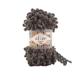 Пряжа Alize Puffy Fine (100% микрополиэстер) 5х100г/14м цв.305 кофе