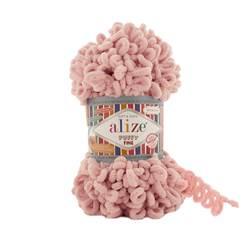 Пряжа Alize Puffy Fine (100% микрополиэстер) 5х100г/14м цв.340 светло-розовый