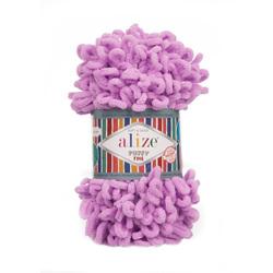 Пряжа Alize Puffy Fine (100% микрополиэстер) 5х100г/14м цв.378 орхидея