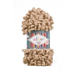 Пряжа Alize Puffy Fine (100% микрополиэстер) 5х100г/14м цв.415 пустынный