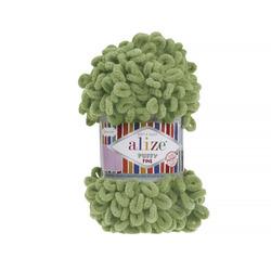 Пряжа Alize Puffy Fine (100% микрополиэстер) 5х100г/14м цв.485 зеленая черепаха