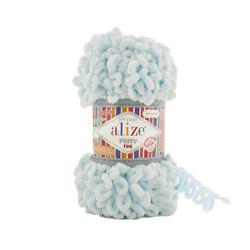 Пряжа Alize Puffy Fine (100% микрополиэстер) 5х100г/14м цв.522 светло голубой