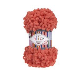 Пряжа Alize Puffy Fine (100% микрополиэстер) 5х100г/14м цв.526 гранатовый