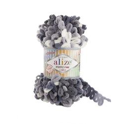 Пряжа Alize Puffy Fine Color (100% микрополиэстер) 5х100г/14,5м цв.5925