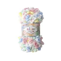Пряжа Alize Puffy Fine Color (100% микрополиэстер) 5х100г/14,5м цв.5949