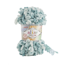 Пряжа Alize Puffy Fine Color (100% микрополиэстер) 5х100г/14,5м цв.6064