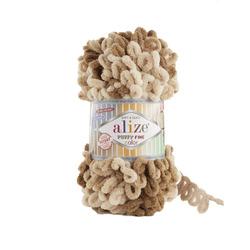 Пряжа Alize Puffy Fine Color (100% микрополиэстер) 5х100г/14,5м цв.6066