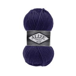 Пряжа Alize Superlana maxi (25% шерсть, 75% акрил) 5х100г/100м цв.388 пурпурный
