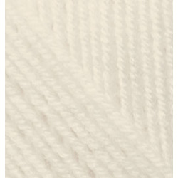 Пряжа Alize Superlana midi (25% шерсть, 75% акрил) 5х100г/170м цв.001 кремовый