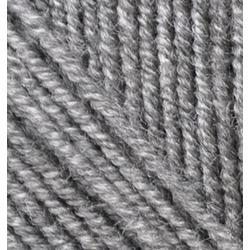 Пряжа Alize Superlana midi (25% шерсть, 75% акрил) 5х100г/170м цв.021 серый