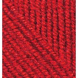 Пряжа Alize Superlana midi (25% шерсть, 75% акрил) 5х100г/170м цв.056 красный