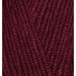 Пряжа Alize Superlana midi (25% шерсть, 75% акрил) 5х100г/170м цв.057 бордовый