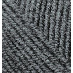 Пряжа Alize Superlana midi (25% шерсть, 75% акрил) 5х100г/170м цв.182 средне-серый меланж