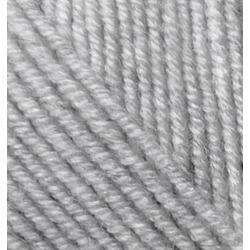 Пряжа Alize Superlana midi (25% шерсть, 75% акрил) 5х100г/170м цв.208 св.серый меланж