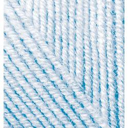 Пряжа Alize Superlana midi (25% шерсть, 75% акрил) 5х100г/170м цв.480 св.голубой
