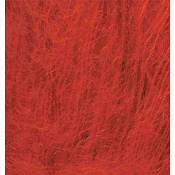 Пряжа Alize Kid Royal (62% кид мохер, 38% полиамид) 5х50г/500м цв.056 красный