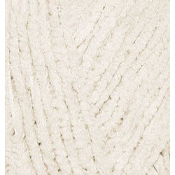 Пряжа Alize Softy (100% микрополиэстер) 5х50г/115м цв.062 св.молочный