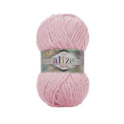 Пряжа Alize Softy Plus (100% микрополиэстер) 5х100г/120м цв.031 детский розовый