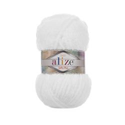 Пряжа Alize Softy Plus (100% микрополиэстер) 5х100г/120м цв.055 белый