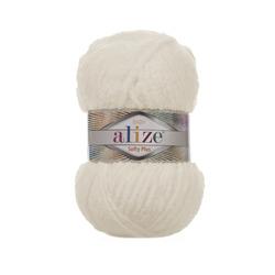 Пряжа Alize Softy Plus (100% микрополиэстер) 5х100г/120м цв.062 св.молочный