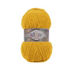 Пряжа Alize Softy Plus (100% микрополиэстер) 5х100г/120м цв.082 желтый