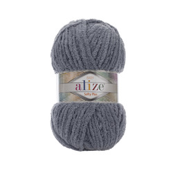 Пряжа Alize Softy Plus (100% микрополиэстер) 5х100г/120м цв.087 серебро