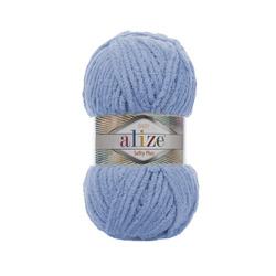 Пряжа Alize Softy Plus (100% микрополиэстер) 5х100г/120м цв.112 голубой