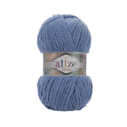 Пряжа Alize Softy Plus (100% микрополиэстер) 5х100г/120м цв.374 джинс