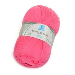 Пряжа Камтекс Белорусская (50% шерсть, 50% акрил) 5х100г/300м цв.054 супер розовый