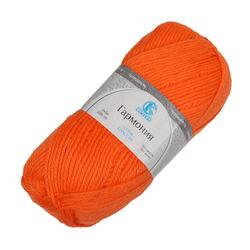 Пряжа Камтекс Гармония (50% импортная п/т шерсть, 50% акрил) 5х100г/245м цв.068 апельсин