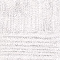 Пряжа Пехорка Ангорская тёплая (40% шерсть, 60% акрил) 5х100г/480м цв.001 белый