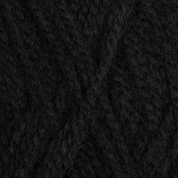 Пряжа Пехорка Ангорская тёплая (40% шерсть, 60% акрил) 5х100г/480м цв.002 черный