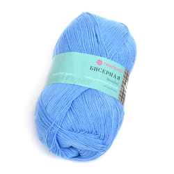 Пряжа Пехорка Бисерная (100% акрил) 5х100г/450м цв.520 голубая пролеска