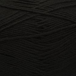 Пряжа Пехорка Детская объёмная (100% микрофибра) 5х100г/400м цв.002 черный