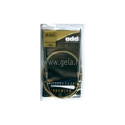 Спицы Addi Круговые супергладкие никелевые 6 мм / 100 см