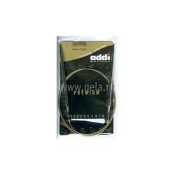 Спицы Addi Круговые супергладкие никелевые 5 мм / 100 см