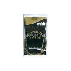 Спицы Addi Круговые супергладкие никелевые 5 мм / 120 см