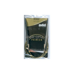Спицы Addi Круговые супергладкие никелевые 8 мм / 120 см