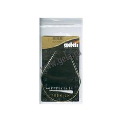 Спицы Addi Круговые супергладкие никелевые 5 мм / 30 см